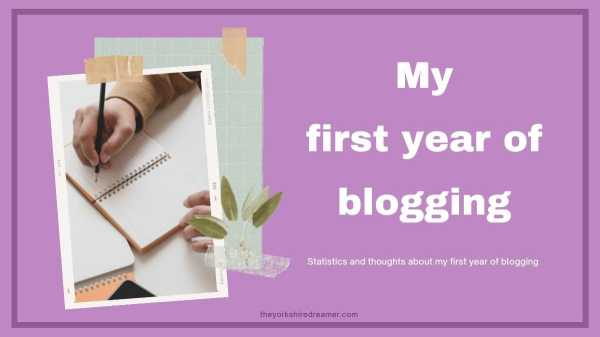My first year of blogging